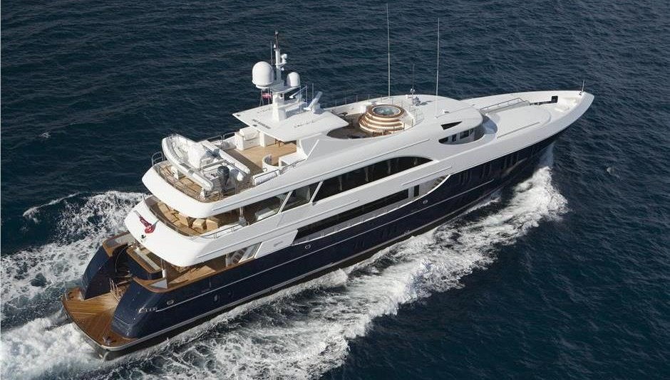 157-foot Trinity M/Y Never Enough, offered for charter through Robert J. Cury & Associates