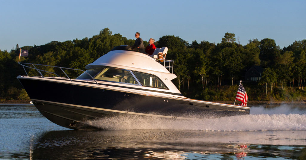 Hull No. 1 has been turning heads from Newport to Fort Lauderdale. Hull No. 3, debuting in Miami, is the brand's sportfishing model.