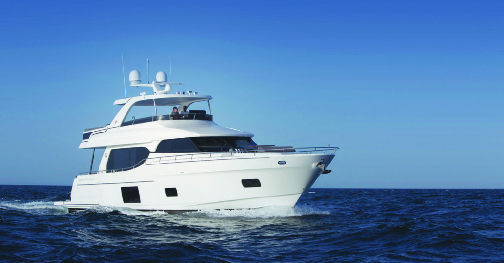 The latest design from proven builder Ocean Alexander is built right in the heart of America's cruising grounds in sunny Florida.